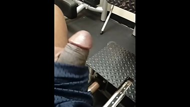 caught playing with my dick at gym