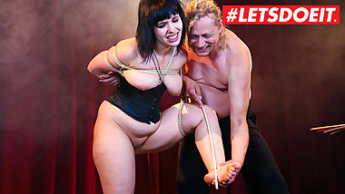 FORBONDAGE - Submissive BBW German Punished By Master