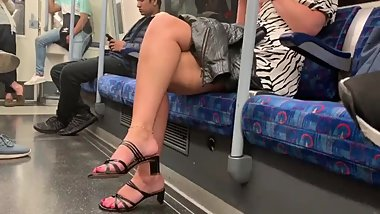 Unreal sexy blonde babe caught me staring at her feet