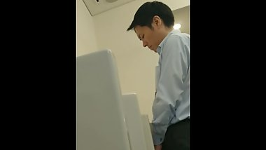 Japanese guy pissing