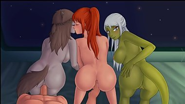 Rose, Alison and Vyl Daemith Scene Space Paws V1