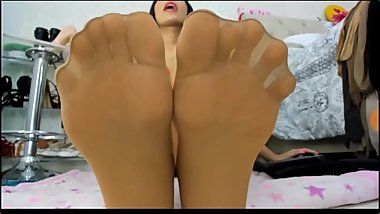 Best Feet and Soles in Pantyhose Fetish Tease