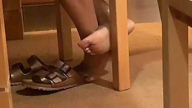 She Caught me Filming her Feet