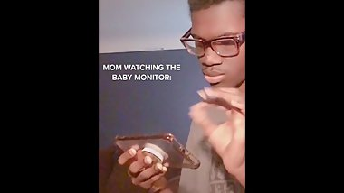 Mom spies on stepson enjoying himself