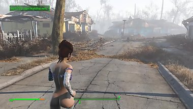 Talon Queen plays - Fallout 4 - part 5 - Modded edition