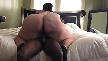 Fat granny riding dick
