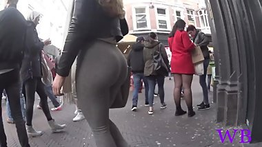 Candid blonde pawg