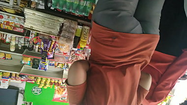 Sexy ass captured in a grocery store