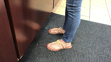 Pretty Asian Feet In Sandals