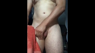 Horny hunk cant control his body