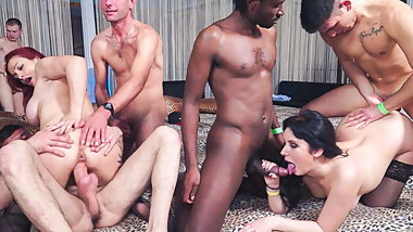 LETSDOEIT - Interracial Anal Sex Party with European Babes