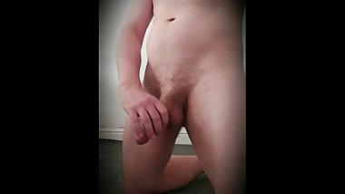 Fat cock getting harder