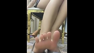 Chinese mistress foot and shoe pov part 1