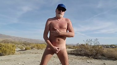 Showing off out in the desert near Palm Springs