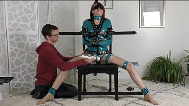 Poppy Leg Spread Mandatory Vibrated Blindfolded HD