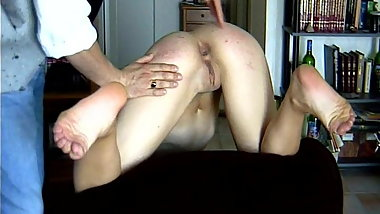CMNF - Stripped and spanked by her music teacher