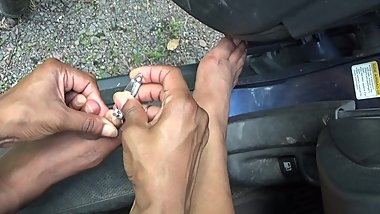 Clipping My Toenails Outdoors