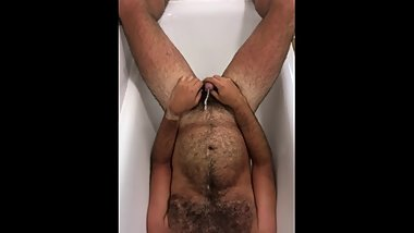 Hairy self piss