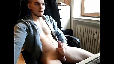 straight german guy cum