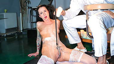 FORBONDAGE - German Nurse Stella Star Receive BDSM Treatment