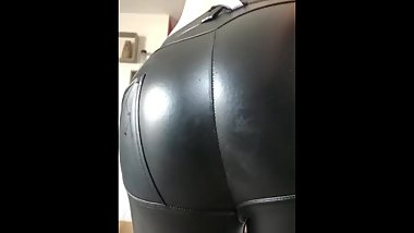 Leather pants fart