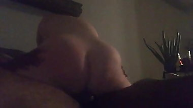 Granny riding with  BBC n her ass