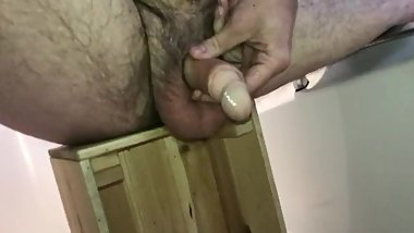 Filling my Foreskin with Piss