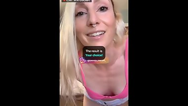 BIGO LIVE STAR from USA BENDYBARBIE cute girl in white shorts and pink bra