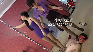 beautiful trampling chinese russian mixed girl
