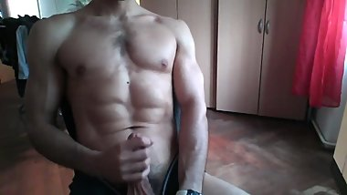 Enjoying myself for first time in front of webcam
