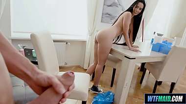 Fucking with the Latina Maid