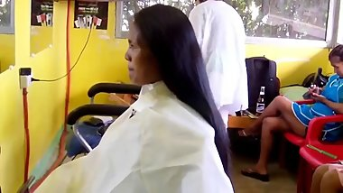 indian girl head shave