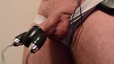Cock exercise with vibrator