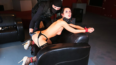 FORBONDAGE - July Sun Gets Ass Fingered In Wild BDSM Session
