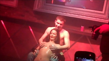 Groping his birthday stripper