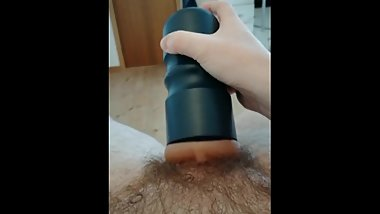 Fucking my toy while family is upstairs