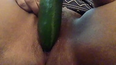 Cucumber Challenge In My Pussy )