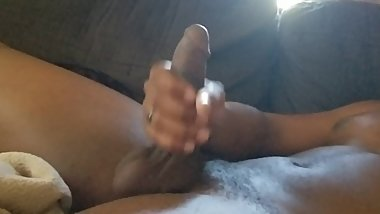 BBC rubbing his Cock