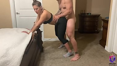 Yoga instructor gets fucked by big cock