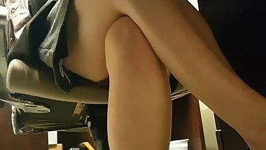 Upskirt on Coworker During Lunch