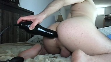 BBC Dildo Sliding In and Out of My Big Booty