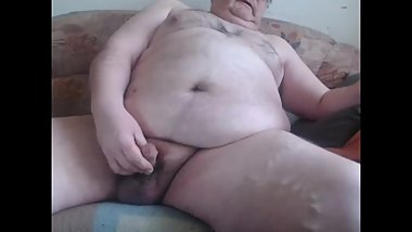 Germany Chubby Pig Smokes and Cums
