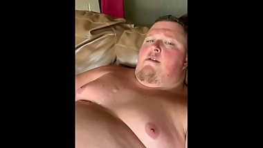 Jerking Off with His Cum, he saw me in the window and sat on my cock