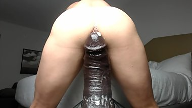Mr. Hankey Topher Michels XXXL Dildo Completely Destroys my Dripping Hole!!