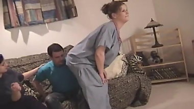 Nurse farting on her patient