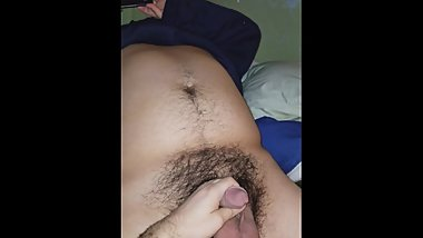 playing with uncut latino nerd dick