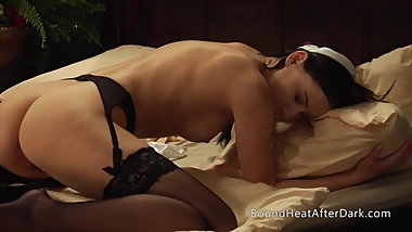 Bent Over Lesbian Slave Screams During Bare Ass Whipping