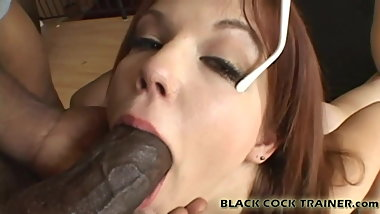Watch me get throat fucked with a massive black cock