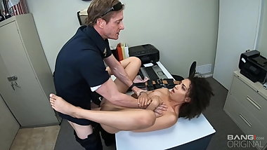 Screw the Cops - Ebony Teen Gets Fucked As Punishment
