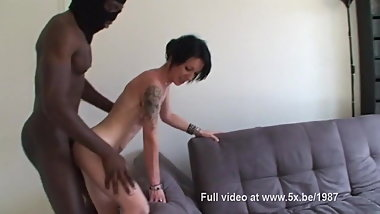 Aurelie cheats and gets fucked in a threesome